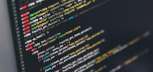 Code on computer